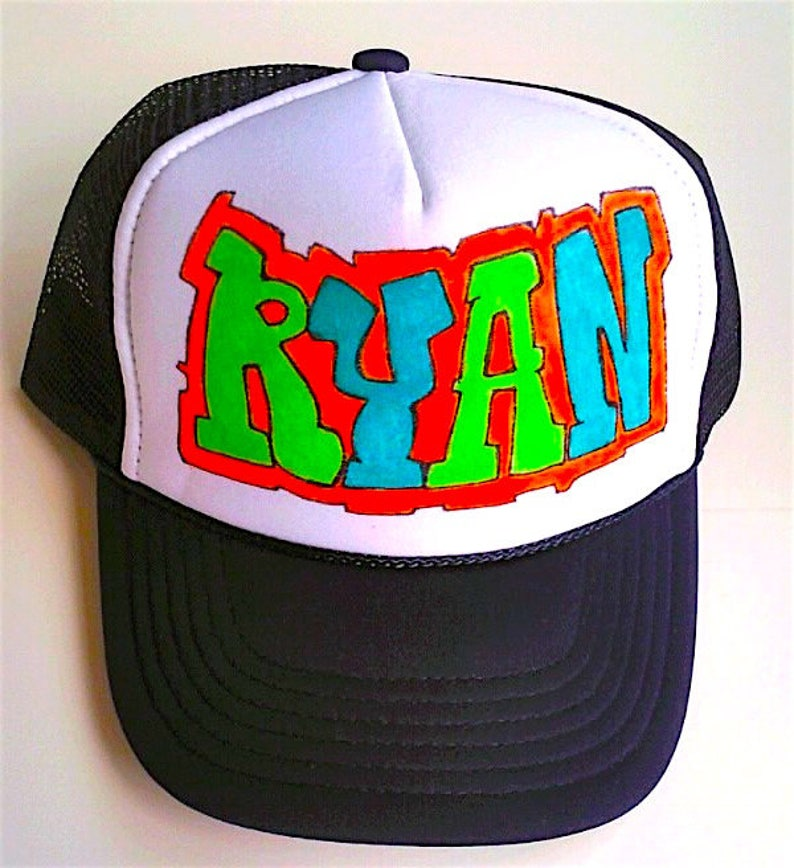 25f9533a Ryan Name Gifts Trucker Hats Caps Personalized Customized Hand | Etsy
