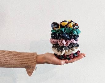 Scrunchies - Set of 2 or 3 elastics for fabric hair, elastic in women's fabric