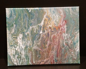 acrylic pour abstract