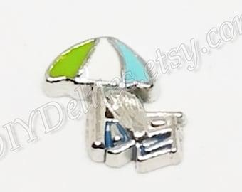 Good Beach Chair Sun Umbrella Summer Holiday Charms Bead For European Bracelets Beads & Jewelry Making