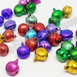 6 mm Bells, Small Bells That Jingle, Mini Bells, Multi-Color Bells, Tiny Bells, Bell Beads, Bells for Christmas, Bells for the Holidays