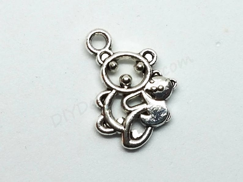 Mother Bear and Baby Bear Charms Bear Family Charms Earring image 0
