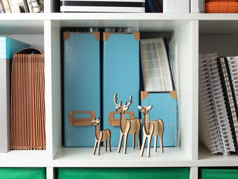Wooden Deer Family: Modern Nursery Decor Woodland Decor image 0