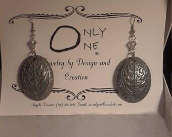 Silver Lining Clay Dangle Earrings
