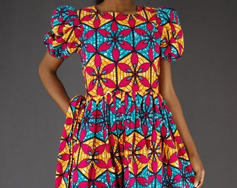 4d211f9569 African women s clothing African clothing for women  African women s party  dress African print fit and flare dress