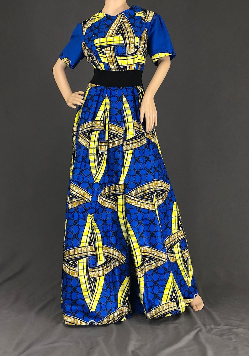 dfa30e03124 Wide leg jumpsuit African clothing for women Wide leg Blue