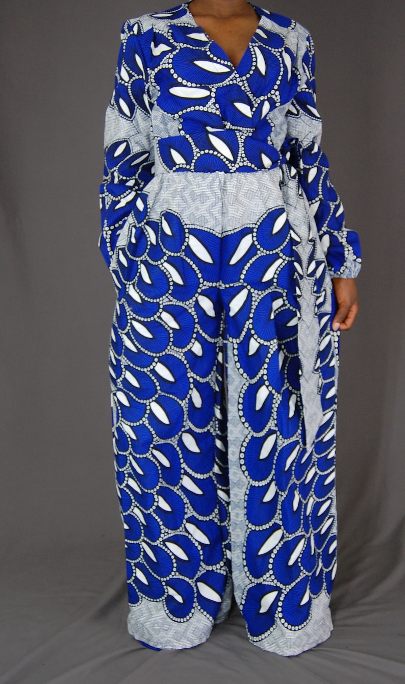 314822dab9b2 Wide leg jumpsuit African clothing for women Full sleeves