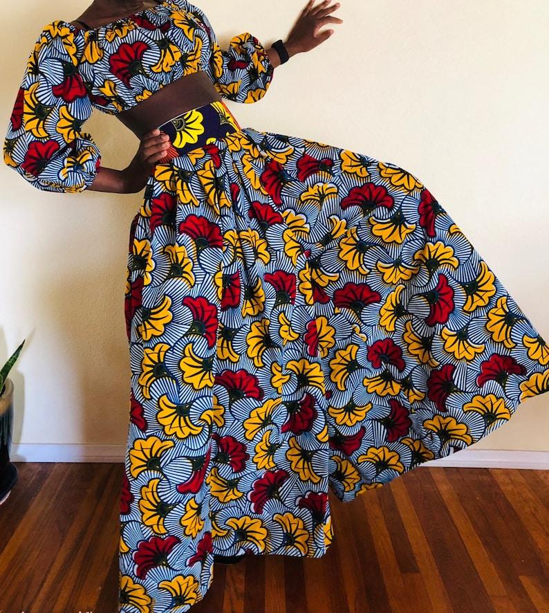 f7de069ec1 Africa print wide leg pants/High waist african print pants   Etsy