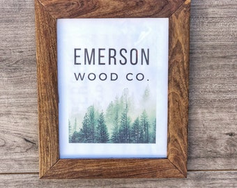 Coffee Wood Picture Frame / Exotic Hardwood Frame