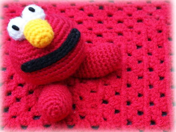 Crochet Amigurumi Elmo (With images) | Crochet teddy, Crochet ... | 428x570