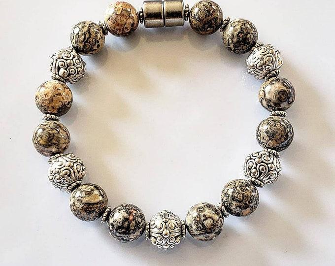 Leopard Jasper bracelet