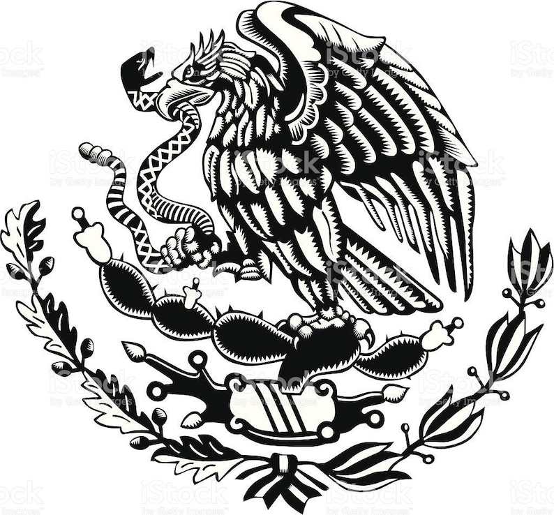 Mexican Flag Center Art In Dxf File Format For Use On Cnc