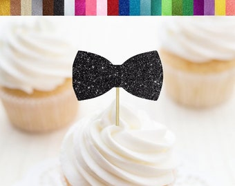 Bow Tie Cupcake Toppers, Bow Food Picks, Little Man Cupcake Toppers, Little Man Party Decorations, Mustache Party, Bow Cupcake Toppers