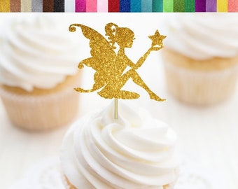 Fairy Cupcake Toppers, Fairy Food Picks, Fairy Party Decorations, Fairy Birthday Decor, Fairy Themed Shower, Faerie Cupcake Toppers