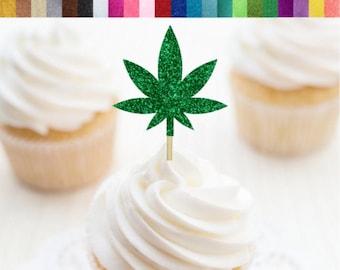 marijuana cake decoration Weed cake decoration weed cupcake topper pot fondant decoration cannabis cupcake topper cupcake topper