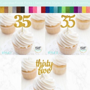 Glitter Number 5 Cupcake Toppers 5th Birthday Treat Decorations Set of 12 Glitter Number Five Cupcake Toppers