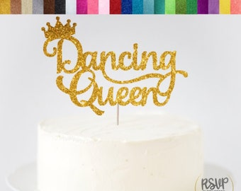 Dancing Queen Cake Topper Dance Party Ballerina Recital Decor Birthday Decorations