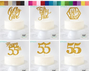 Super Awesome Since 1964 Cake Topper 55Th Birthday Cake Topper 55Th Funny Birthday Cards Online Inifofree Goldxyz