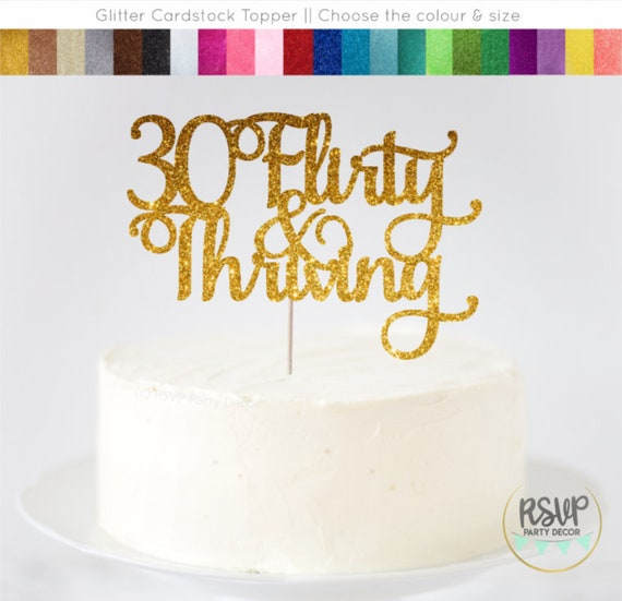 Incredible 30 Flirty Thriving Cake Topper Dirty Thirty Cake Topper 30Th Personalised Birthday Cards Cominlily Jamesorg