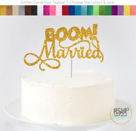 Boom Married Cake Topper Comic Book Wedding Cake Topper
