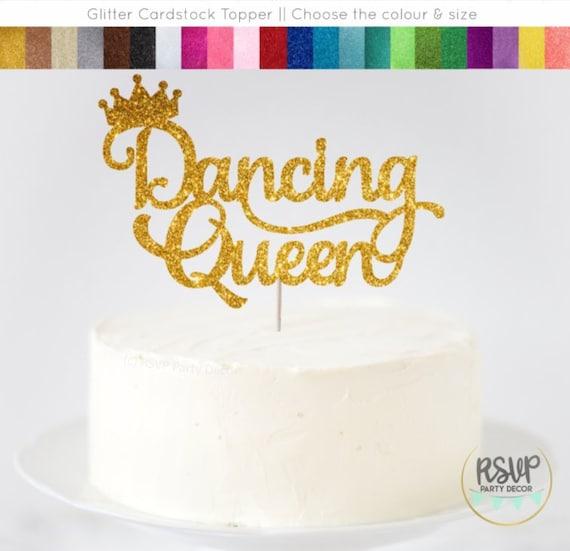 Dancing Queen Cake Topper Dance Party Cake Topper Ballerina Etsy