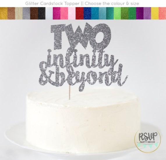Admirable Two Infinity Beyond Cake Topper Second Birthday Cake Topper Funny Birthday Cards Online Chimdamsfinfo