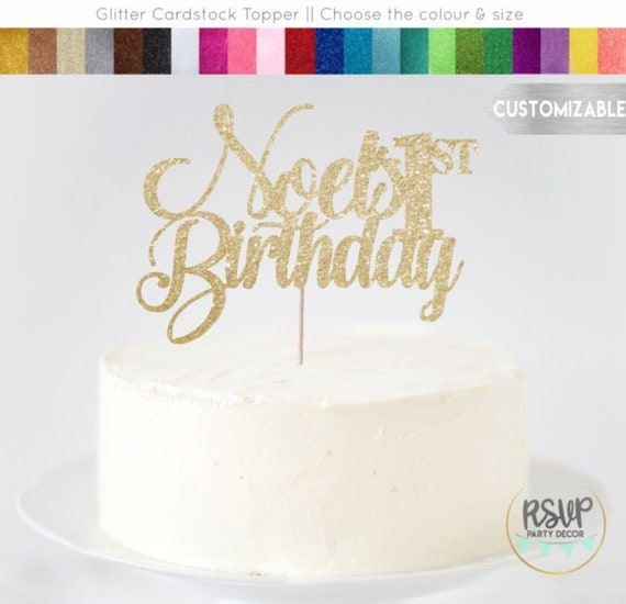 Fabulous Any Name Number Custom Birthday Cake Topper Glitter Happy Funny Birthday Cards Online Alyptdamsfinfo