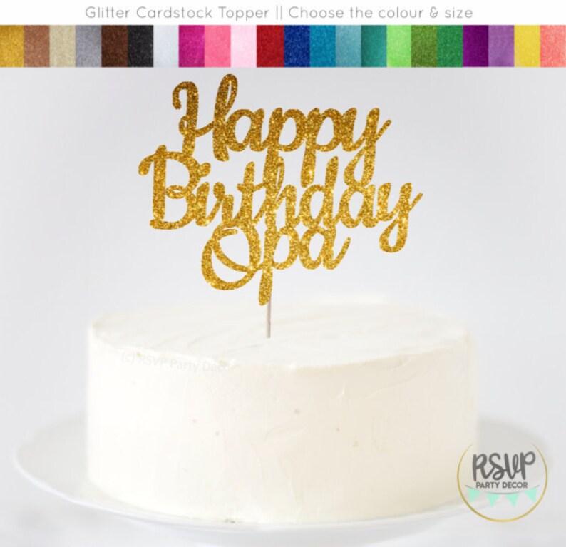 Happy Birthday Opa Cake Topper, Happy Birthday Grandpa Sign, German Cake  Topper, Dutch Cake Topper, Opa Birthday Decorations