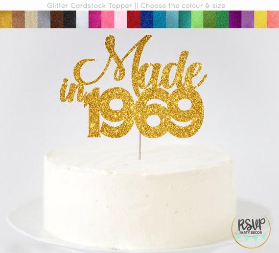 Super Made In 1969 Cake Topper 51St Birthday Cake Topper Made In Etsy Funny Birthday Cards Online Inifofree Goldxyz