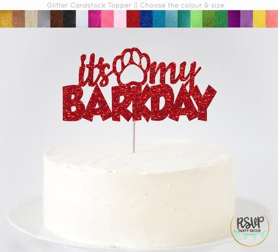Puppy Themed 1st Birthday Party Dog 1st Birthday Cake Topper Paw One Cake Topper Puppy Party Paw Print Paw Cake Topper