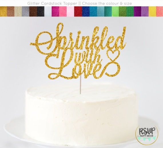 Sprinkled With Love Cake Topper Baby Sprinkle Party Decor Donut Themed