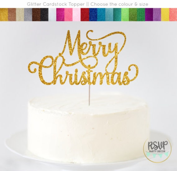 Merry Christmas Cake Topper Merry Christmas Sign Christmas Party Decor Be Merry Christmas Centrepiece Christmas Cake Topper Glitter By Rsvp Parties And Events Catch My Party