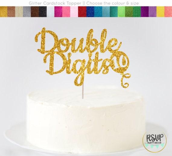 Peachy Double Digits Cake Topper 10Th Birthday Cake Topper Ten Cake Etsy Funny Birthday Cards Online Inifodamsfinfo