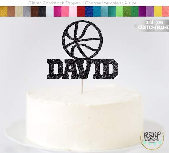 Custom Basketball Cake Topper Basketball Cake Topper
