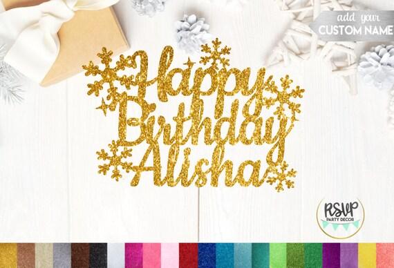Fabulous Winter Birthday Cake Topper Custom Happy Birthday Cake Topper Funny Birthday Cards Online Alyptdamsfinfo