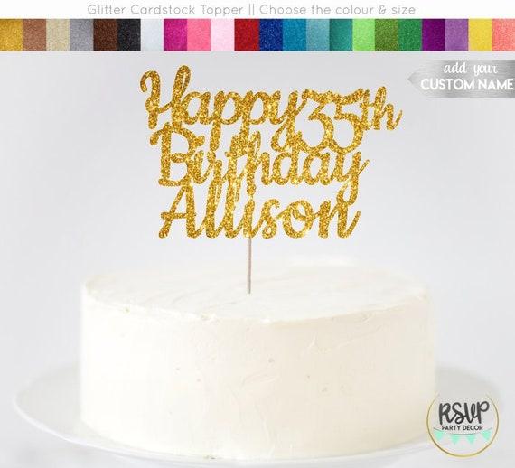 Incredible Custom Happy Birthday Cake Topper Happy Birthday Name Cake Topper Personalised Birthday Cards Veneteletsinfo