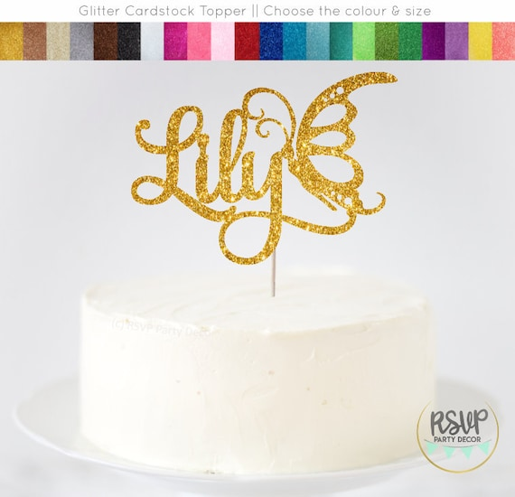 Pleasant Custom Butterfly Cake Topper Butterfly Party Decorations Custom Funny Birthday Cards Online Overcheapnameinfo