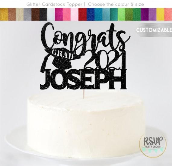 Preschool Graduation Cake Topper Class of 2021 Cake Topper Custom Graduation Cake Topper