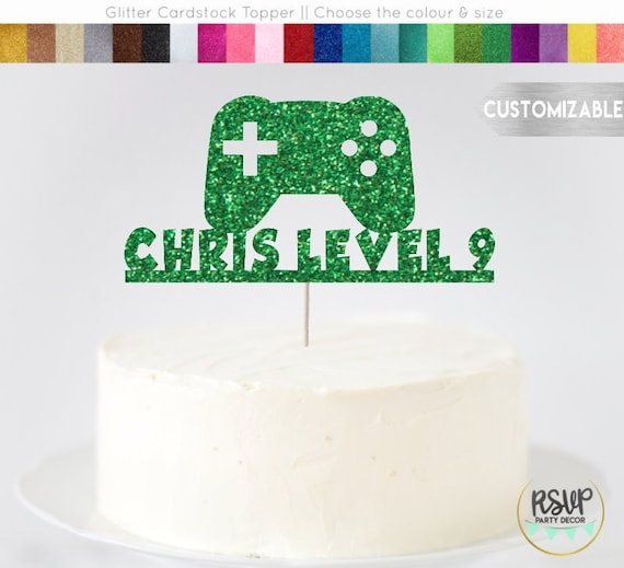 Custom Video Game Cake Topper Video Game Themed Party Decorations