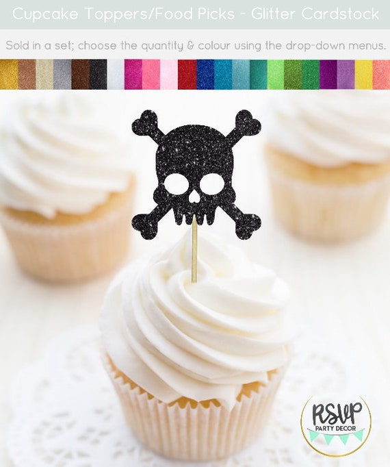 Skull Cupcake Toppers Pirate Skull Cupcake Toppers Pirate Themed