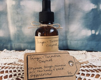 Organic Ginger Turmeric Oxymel