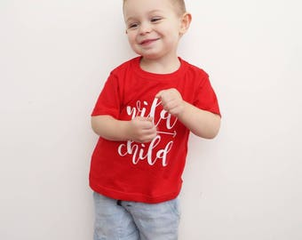 Wild Child T-shirt-rouge