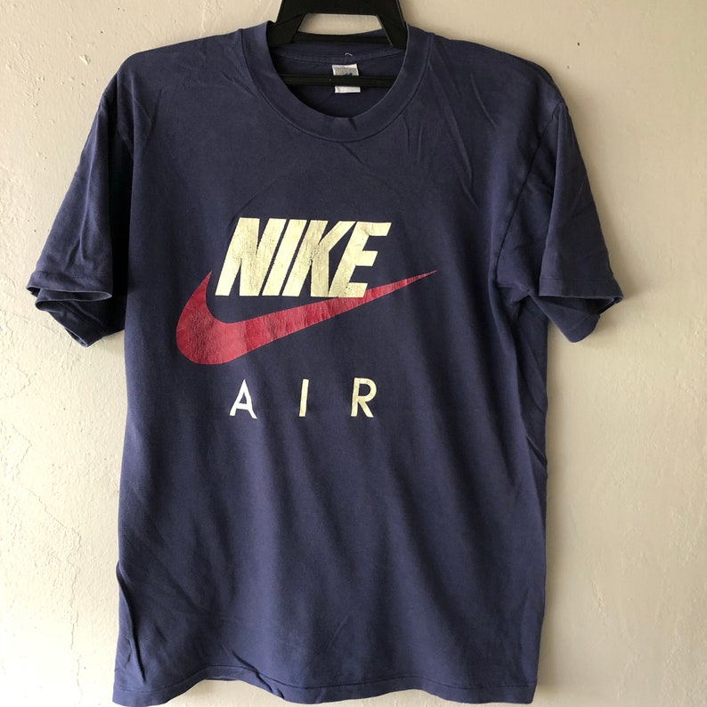 73a994d89 Vintage 90's Nike Swoosh Spell Out Big Logo T-Shirt / Dark | Etsy
