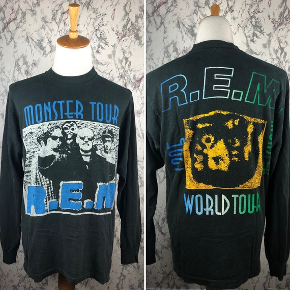 Vintage 90's R.E.M Monster World Tour 1995 Longsle