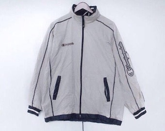 vintage 90s champion jacket size L champion small logo jumper champion sweater champion windbreake