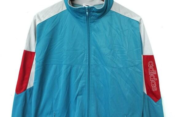 Vintage 90er Jahre Adidas Jacke Größe M Adidas Trainingsanzug Reißverschluss Jacke Adidas Colorblock Jacke Windjacke Adidas Sweatshirt Adidas