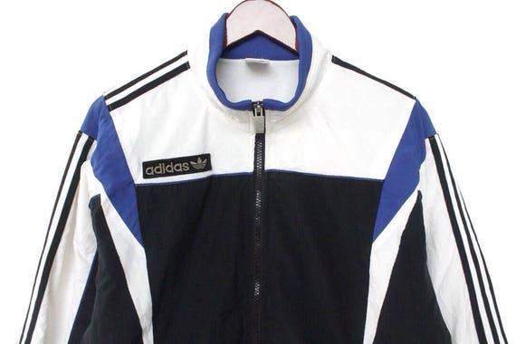 Vintage 90er Jahre Adidas Jacke Adidas Trainingsanzug Adidas Windjacke Adidas Trainingsanzug Adidas großes Logo Adidas Dreiblatt blau Adidas Jacke