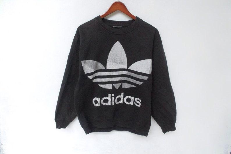 Vintage 90er Jahre Adidas Sweatshirt Adidas Jacke Adidas Trainingsanzug Adidas Trainingsanzug Farbe Block Adidas Windjacke Adidas großes logo