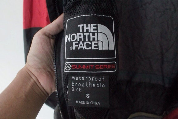 face proof face north the gore north jacket face and water north size tex series vintage S jacket coat hoodie summit pOCwzwq