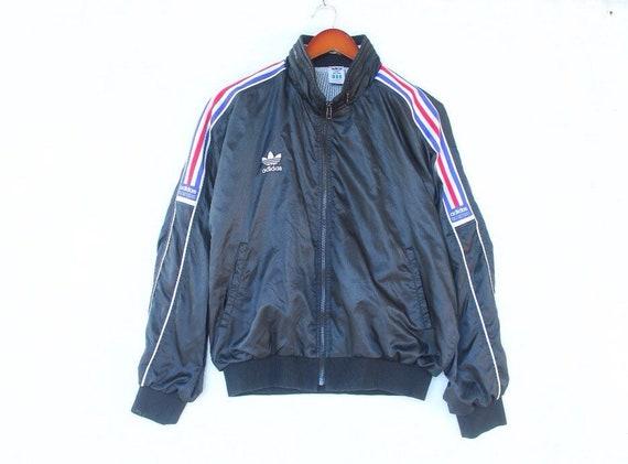 Vintage 90er Jahre Adidas Jacke Adidas Trainingsanzug Farbe Block Adidas Windjacke Adidas Trainingsanzug Adidas großes Logo Adidas Dreiblatt blau